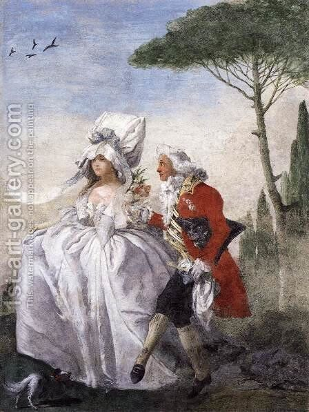 Minuet in Villa by Giovanni Domenico Tiepolo - Reproduction Oil Painting