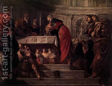 The Presentation of Christ in the Temple 2 by Jacopo Tintoretto (Robusti) - Reproduction Oil Painting