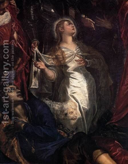The Miracle of St Agnes (detail) by Jacopo Tintoretto (Robusti) - Reproduction Oil Painting