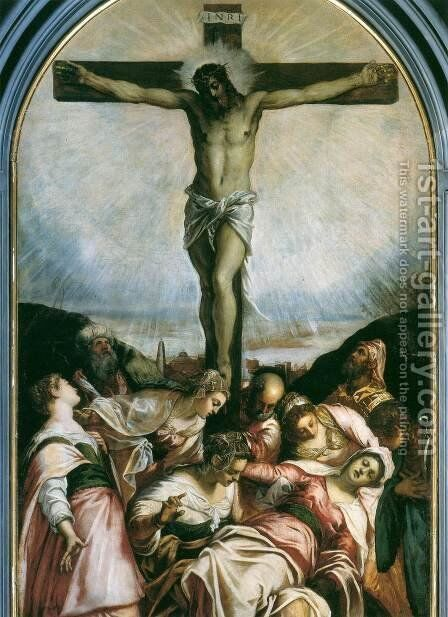 Crucifixion 2 by Jacopo Tintoretto (Robusti) - Reproduction Oil Painting