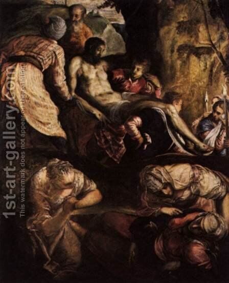 Christ Carried to the Tomb by Jacopo Tintoretto (Robusti) - Reproduction Oil Painting