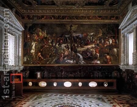 The Sala dell'Albergo by Jacopo Tintoretto (Robusti) - Reproduction Oil Painting