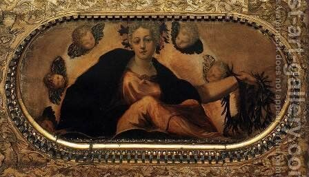 Allegory of Fortune (Felicita) by Jacopo Tintoretto (Robusti) - Reproduction Oil Painting