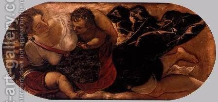 Allegory of the Scuola della Carita by Jacopo Tintoretto (Robusti) - Reproduction Oil Painting