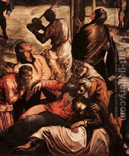 Crucifixion (detail) 2 by Jacopo Tintoretto (Robusti) - Reproduction Oil Painting