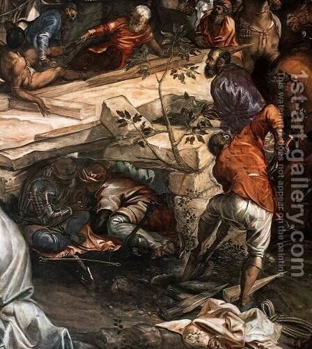 Crucifixion (detail) 4 by Jacopo Tintoretto (Robusti) - Reproduction Oil Painting
