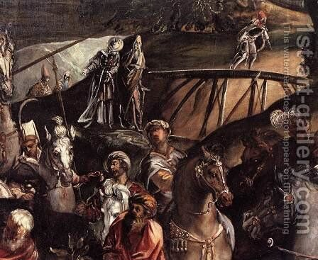 The Crucifixion (detail) 6 by Jacopo Tintoretto (Robusti) - Reproduction Oil Painting
