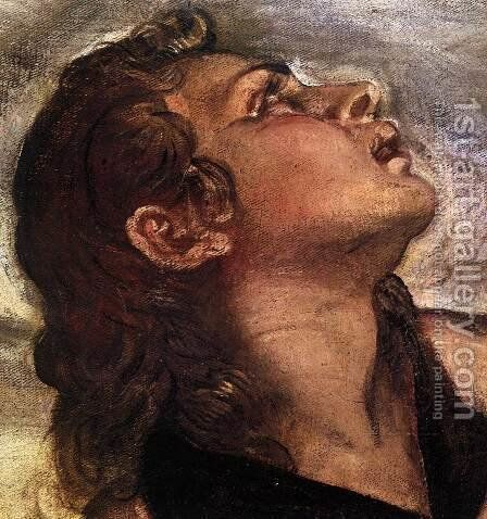 Crucifixion (detail) 5 by Jacopo Tintoretto (Robusti) - Reproduction Oil Painting