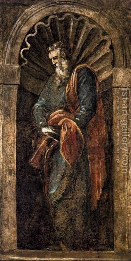 Prophet 4 by Jacopo Tintoretto (Robusti) - Reproduction Oil Painting