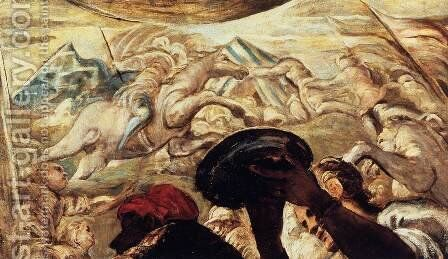 Moses Drawing Water from the Rock (detail) 2 by Jacopo Tintoretto (Robusti) - Reproduction Oil Painting