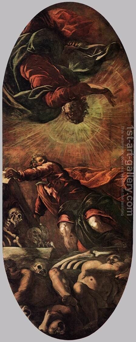 The Vision of Ezekiel 2 by Jacopo Tintoretto (Robusti) - Reproduction Oil Painting