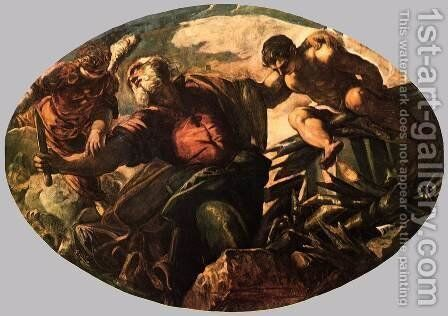 The Sacrifice of Isaac 2 by Jacopo Tintoretto (Robusti) - Reproduction Oil Painting