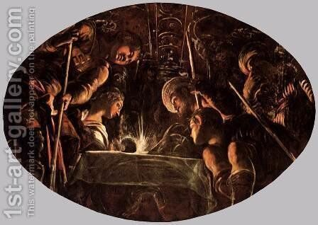 The Passover 2 by Jacopo Tintoretto (Robusti) - Reproduction Oil Painting