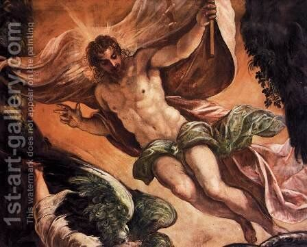 The Resurrection of Christ (detail) by Jacopo Tintoretto (Robusti) - Reproduction Oil Painting