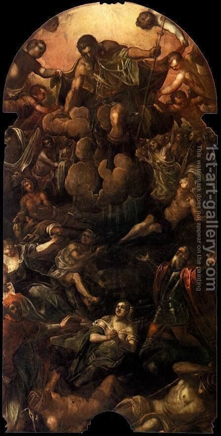 The Apparition of St Roch by Jacopo Tintoretto (Robusti) - Reproduction Oil Painting