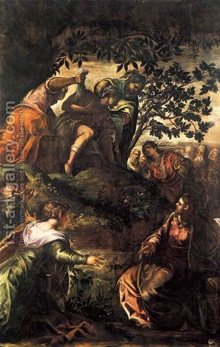 The Raising of Lazarus 2 by Jacopo Tintoretto (Robusti) - Reproduction Oil Painting