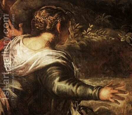The Raising of Lazarus (detail) by Jacopo Tintoretto (Robusti) - Reproduction Oil Painting