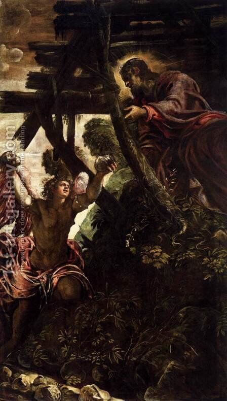 The Temptation of Christ 2 by Jacopo Tintoretto (Robusti) - Reproduction Oil Painting