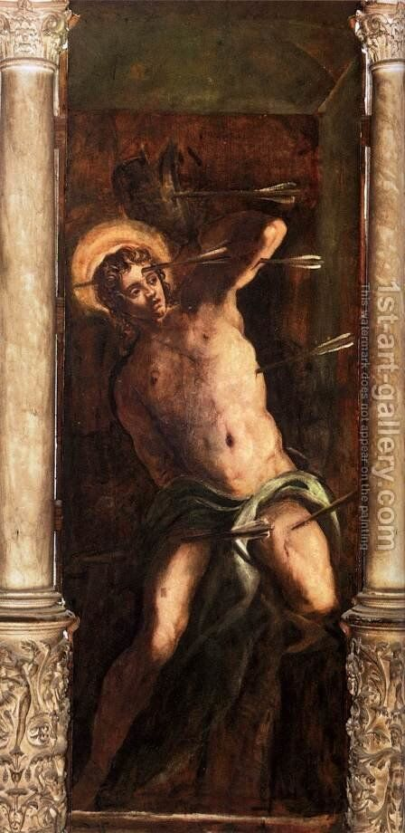 St Sebastian 2 by Jacopo Tintoretto (Robusti) - Reproduction Oil Painting