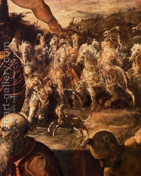 The Adoration of the Magi (detail) by Jacopo Tintoretto (Robusti) - Reproduction Oil Painting