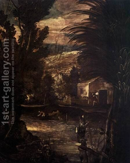 The Flight into Egypt (detail) by Jacopo Tintoretto (Robusti) - Reproduction Oil Painting