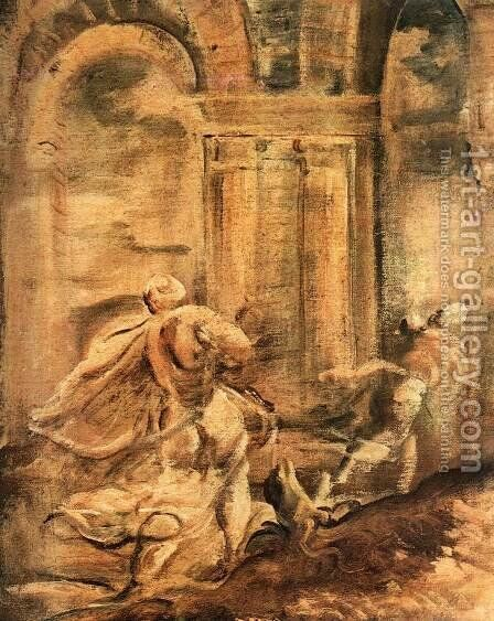 The Massacre of the Innocents (detail) 4 by Jacopo Tintoretto (Robusti) - Reproduction Oil Painting