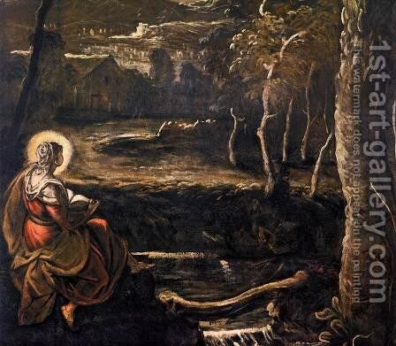 St Mary of Egypt (detail) 2 by Jacopo Tintoretto (Robusti) - Reproduction Oil Painting