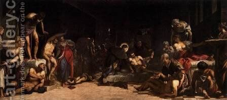 St Roch in the Hospital by Jacopo Tintoretto (Robusti) - Reproduction Oil Painting