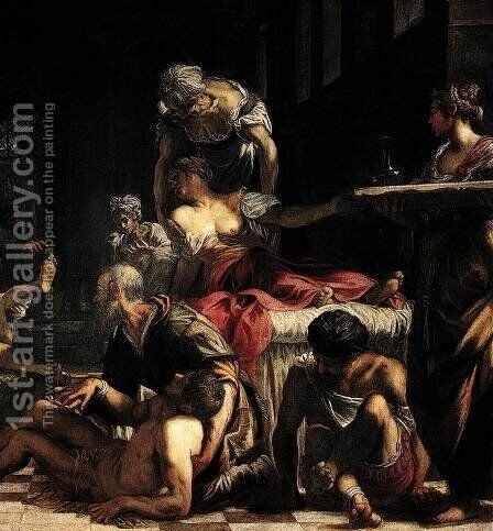 St Roch in the Hospital (detail) by Jacopo Tintoretto (Robusti) - Reproduction Oil Painting