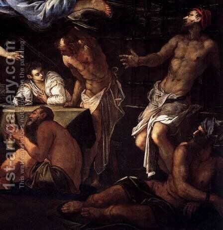 St Roch in Prison Visited by an Angel (detail) 3 by Jacopo Tintoretto (Robusti) - Reproduction Oil Painting