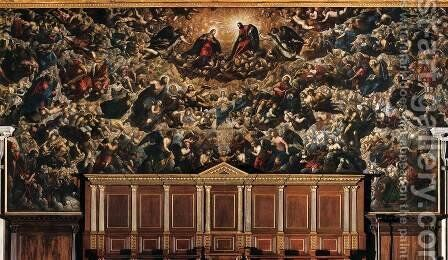 Paradise 5 by Jacopo Tintoretto (Robusti) - Reproduction Oil Painting