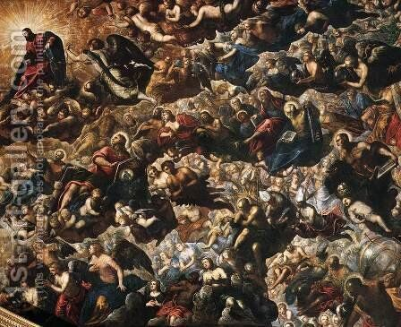 Paradise (detail) 2 by Jacopo Tintoretto (Robusti) - Reproduction Oil Painting