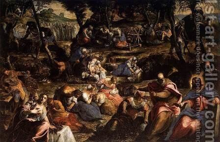 The Jews in the Desert 2 by Jacopo Tintoretto (Robusti) - Reproduction Oil Painting