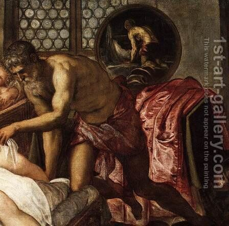 Venus, Mars, and Vulcan (detail) by Jacopo Tintoretto (Robusti) - Reproduction Oil Painting