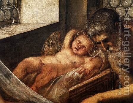 Venus, Mars, and Vulcan (detail) 2 by Jacopo Tintoretto (Robusti) - Reproduction Oil Painting