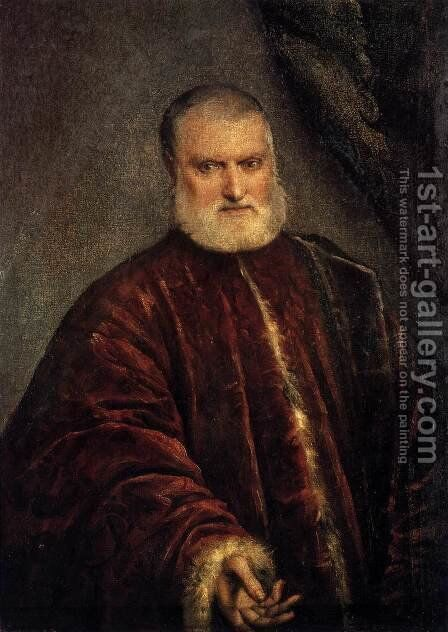 Portrait of Procurator Antonio Cappello 2 by Jacopo Tintoretto (Robusti) - Reproduction Oil Painting