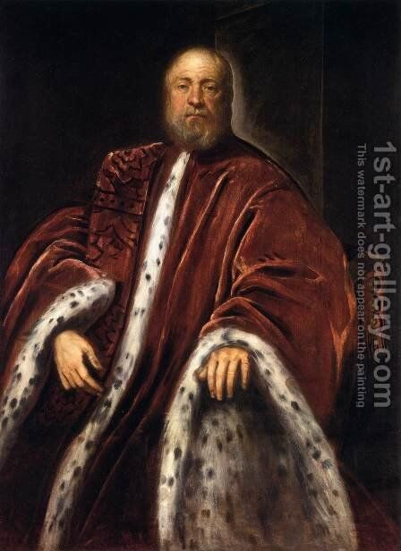Portrait of a Procurator of St Mark's 2 by Jacopo Tintoretto (Robusti) - Reproduction Oil Painting