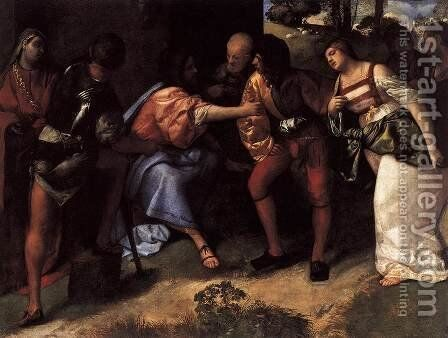 Christ and the Adulteress 2 by Tiziano Vecellio (Titian) - Reproduction Oil Painting