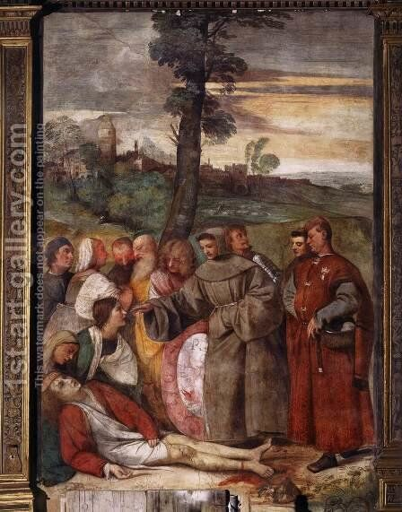 The Healing of the Wrathful Son 2 by Tiziano Vecellio (Titian) - Reproduction Oil Painting