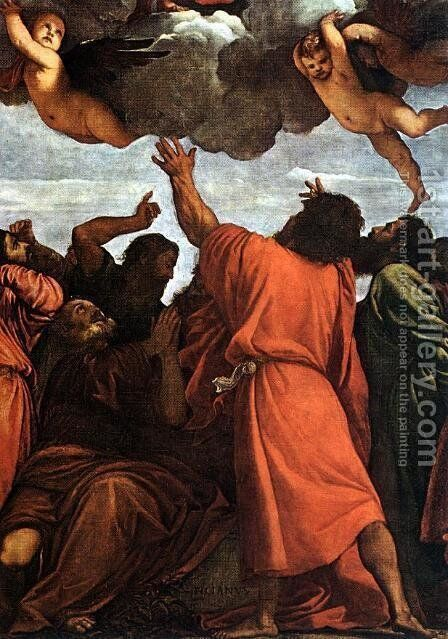 Assumption of the Virgin (detail) by Tiziano Vecellio (Titian) - Reproduction Oil Painting