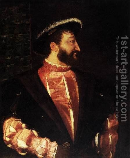 Portrait of Francis I 2 by Tiziano Vecellio (Titian) - Reproduction Oil Painting