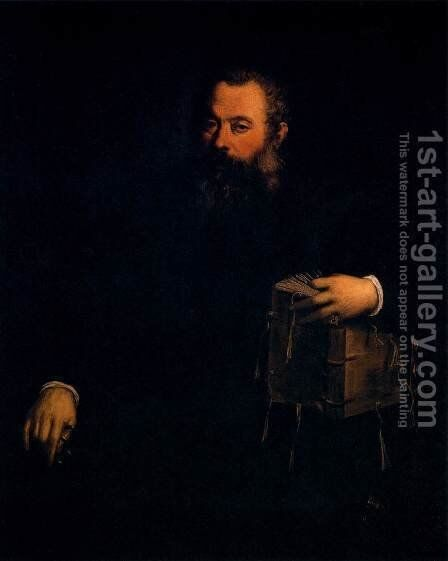 Portrait of Andreas Vesalius by Tiziano Vecellio (Titian) - Reproduction Oil Painting