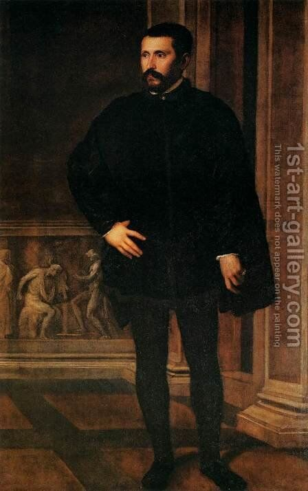 Portrait of a Man 2 by Tiziano Vecellio (Titian) - Reproduction Oil Painting