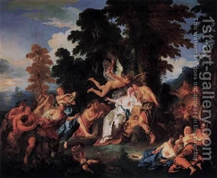 Bacchus and Ariadne by Jean François de Troy - Reproduction Oil Painting