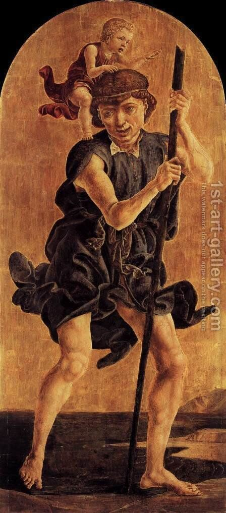 St Christopher by Cosme Tura - Reproduction Oil Painting