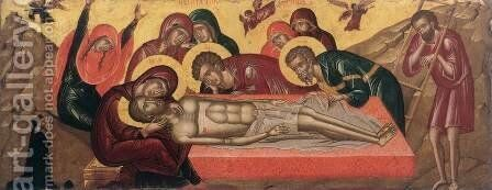 The Lamentation of Christ by Cretan Unknown Master - Reproduction Oil Painting