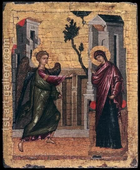 The Annunciation by Cretan Unknown Master - Reproduction Oil Painting