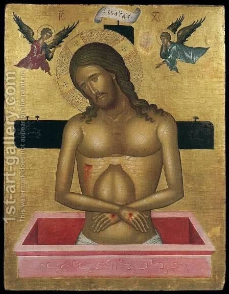 Christ in the Tomb by Cretan Unknown Master - Reproduction Oil Painting