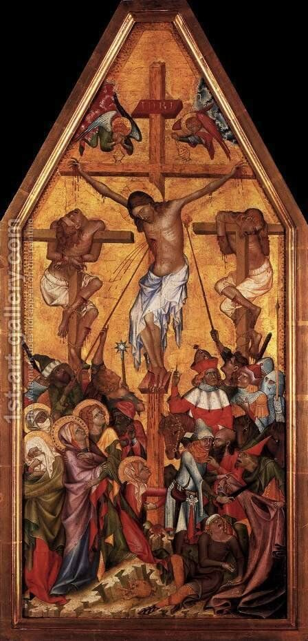 Crucifixion by Bohimian Unknown Masters - Reproduction Oil Painting