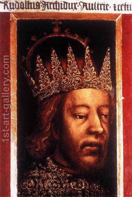 Portrait of Duke Rudolf IV of Austria by Bohimian Unknown Masters - Reproduction Oil Painting
